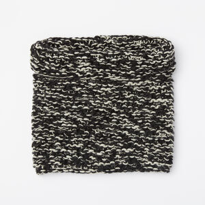 Roots-Women Scarves & Wraps-Sophie Chunky Snood-Black & White-A