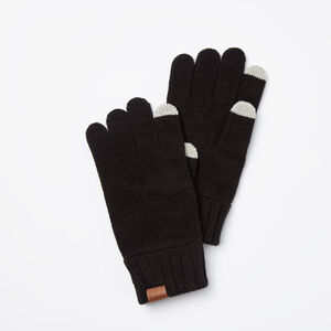 Roots-Men Gloves-Mens Touch Screen Glove-Black-A