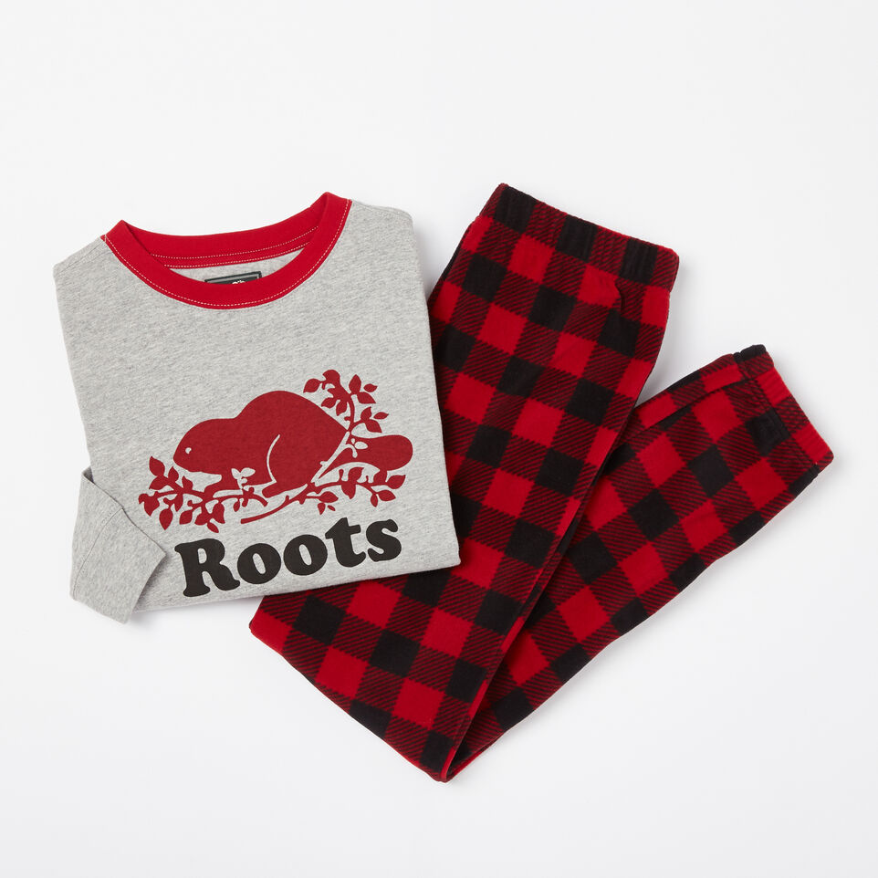 Roots-undefined-Boys Micro Fleece PJ Set-undefined-A