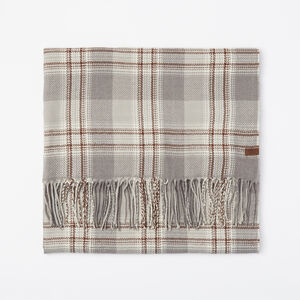 Roots-Men New Arrivals-Ryleigh Plaid Scarf-Grey Mix-A