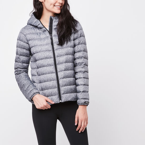 Roots-Women New Arrivals-Roots Zip Down Packable Jacket-Salt & Pepper-A