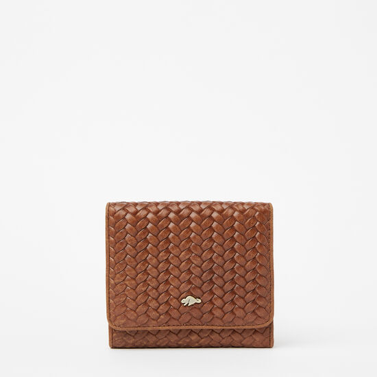 Roots-Women Bags-Easy Trifold Wallet Woven-Africa-A