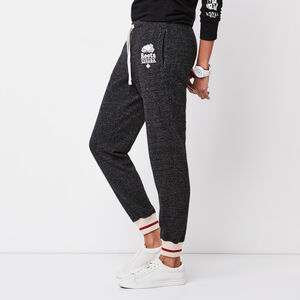 Roots-Women Bottoms-Roots Cabin Slim Cuff Sweatpant-Black Pepper-A