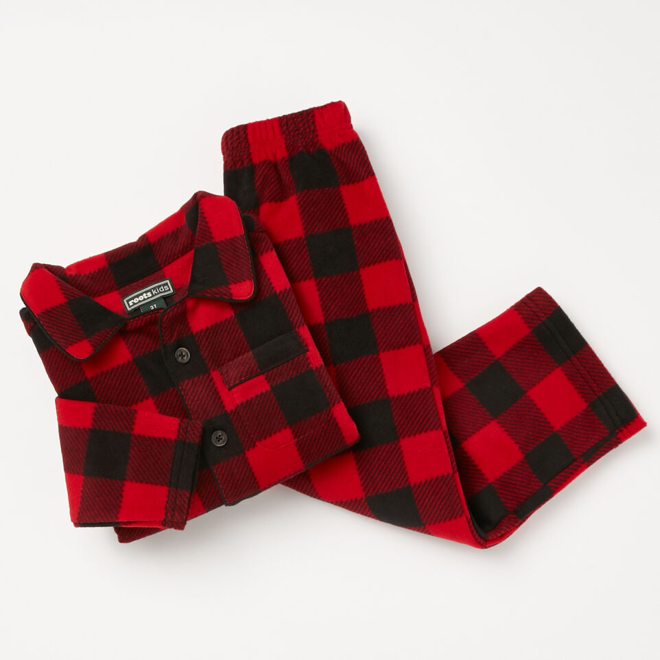 Roots-undefined-Toddler Roots Micro Fleece Button Up-undefined-A
