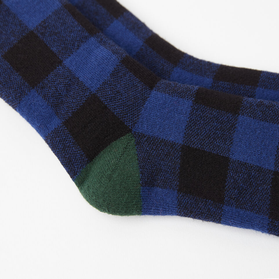 Roots-undefined-Kids Buffalo Check Boot Sock-undefined-B