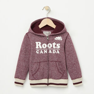 Roots-Kids Toddler Girls-Toddler Roots Cabin Full Zip Hoody-Cabernet Pepper-A