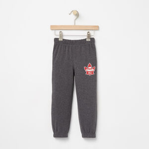 Roots-Gifts For Kids-Toddler Heritage Canada Slim Sweatpant-Charcoal Mix-A