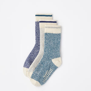 Roots-Kids New Arrivals-Baby & Toddler Cabin Sock 3 Pack-Blue Mix-A