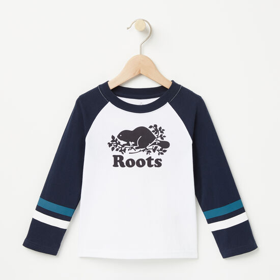 Roots-Kids New Arrivals-Toddler Riley Baseball Top-White-A