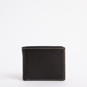 Roots-Leather Men's Wallets-Mens Slimfold Side Flap Prince-Black-A