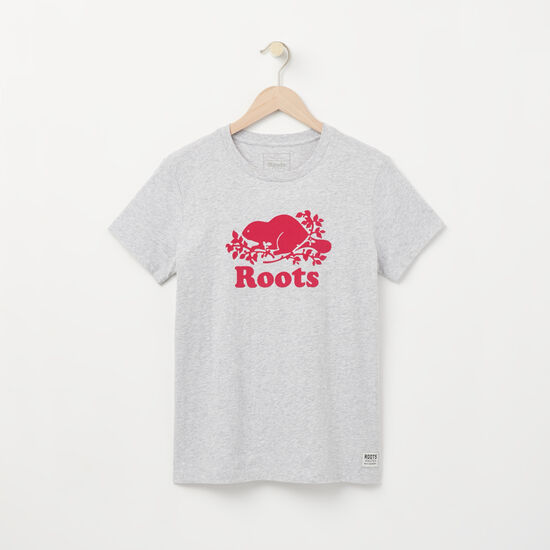 Roots-Women Graphic T-shirts-Angela Cooper T-shirt-Snowy Ice Mix-A