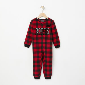 Roots-Kids Pajamas-Toddler Microfleece PJ Sleeper-Lodge Red-A
