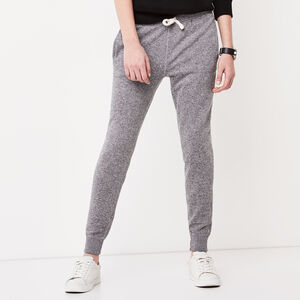 Roots-Women Bottoms-Cozy Slim Cuff Sweatpant-Salt & Pepper-A