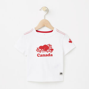 Roots-Kids Canada Collection-Baby Cooper Canada T-shirt-White-A