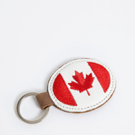 Roots-Leather Leather-Canada Oval Key Chain Tribe-Africa-A