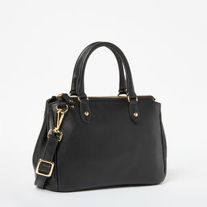 Roots-Leather Crossbody-Little Gracie Bag Box-Black-A