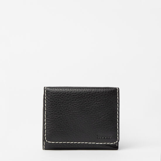 Roots-Women Wallets-Easy Trifold Wallet Prince-Black-A