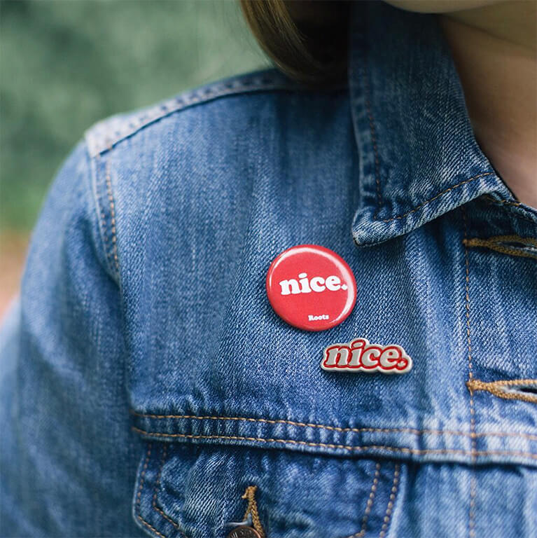 Be nice™, support WE, buy a button