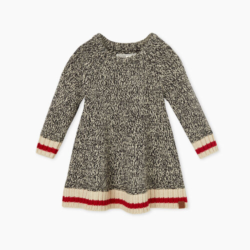 Roots-Kids Baby Girl-Baby Cabin Sweater Dress-Grey Oat Mix-A