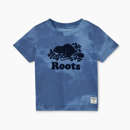 Roots-Kids Baby-Baby Cooper Beaver T-shirt-Federal Blue-A