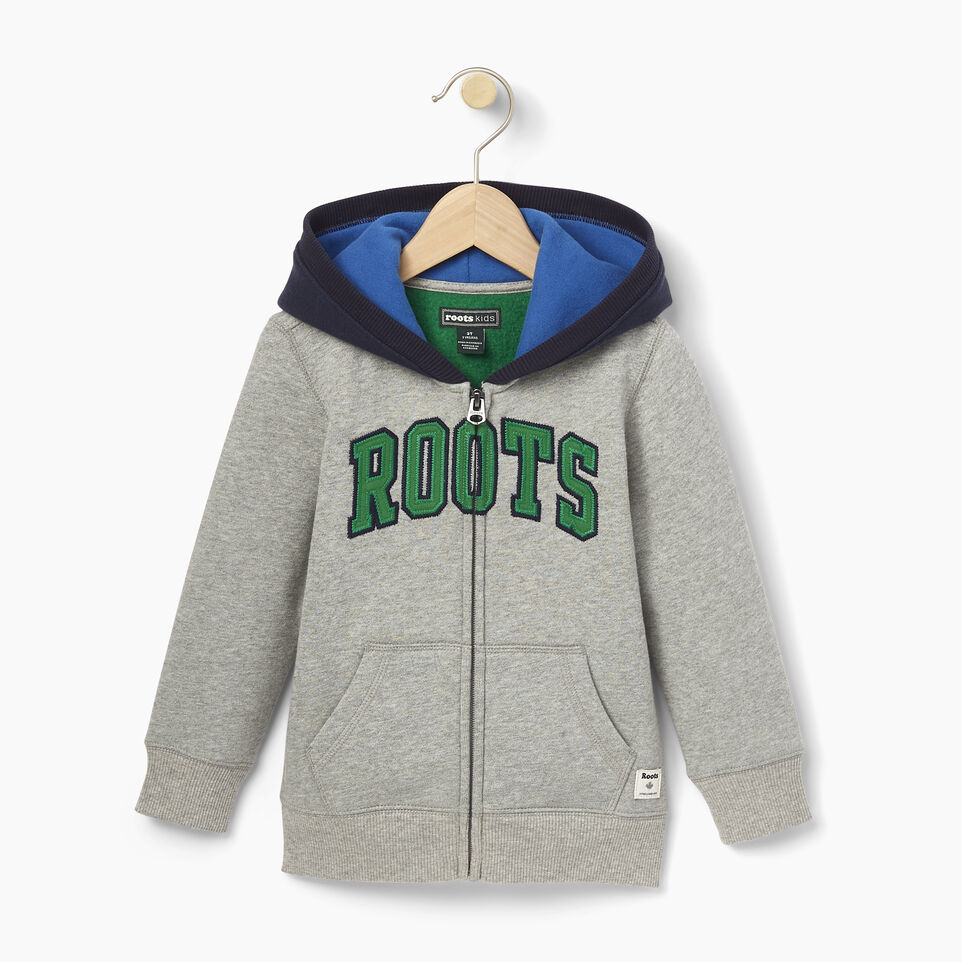 Roots-undefined-Toddler Plated Fleece Full Zip Hoody-undefined-A