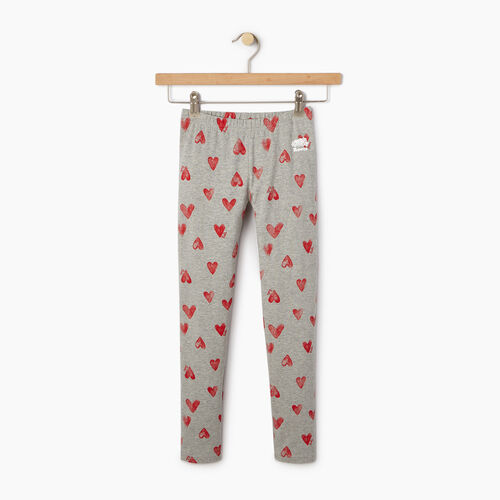 Roots-Clearance Kids-Girls Cooper Hearts Legging-Grey Mix-A