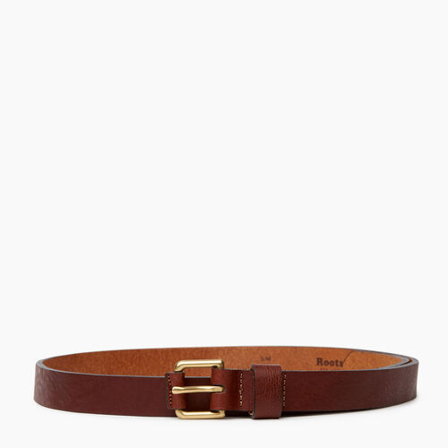 Roots-Women Categories-Roots Womens Leather Roller Belt-Brown-A