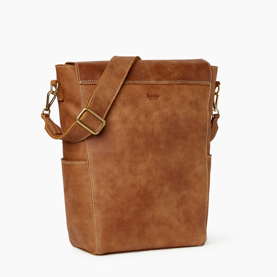 Roots-Leather Our Favourite New Arrivals-Journey Bag-Natural-C