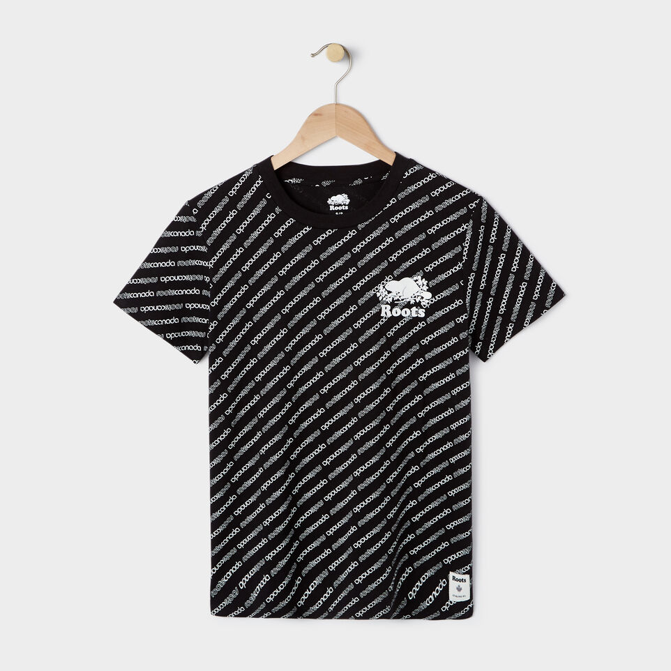 Roots-New For July Daily Offer-Womens Peleton T-shirt-Black-A