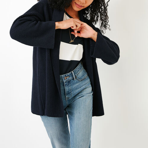 Roots-Women Categories-Ninah Open Cardigan-Navy Blazer-A