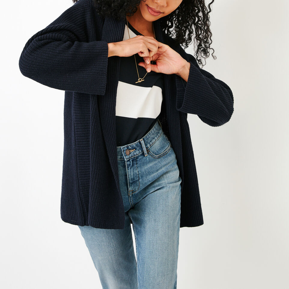 Roots-Women Our Favourite New Arrivals-Ninah Open Cardigan-Navy Blazer-A