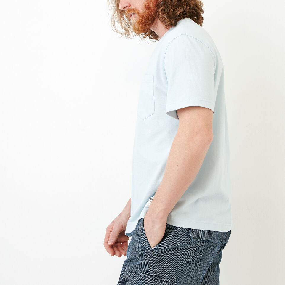 Roots-Men Our Favourite New Arrivals-Essential Pocket T-shirt-Baby Blue-C
