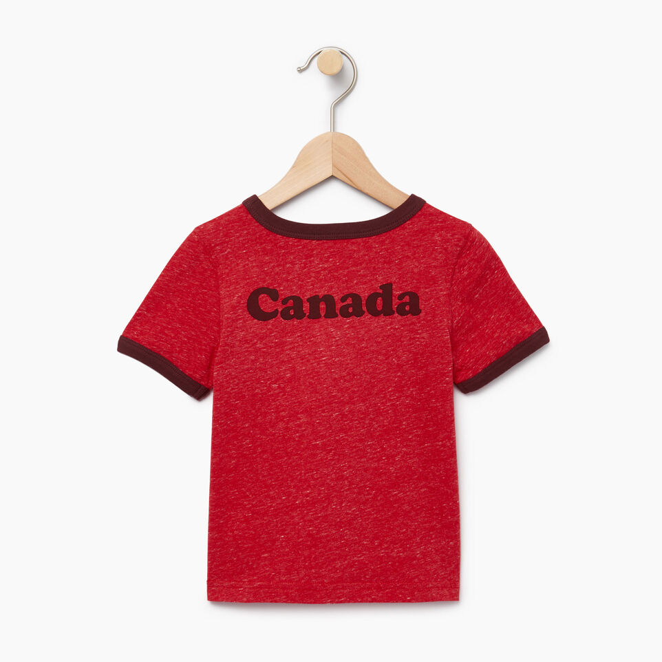 Roots-Kids Our Favourite New Arrivals-Toddler Canada Cabin Ringer T-shirt-Sage Red Mix-B