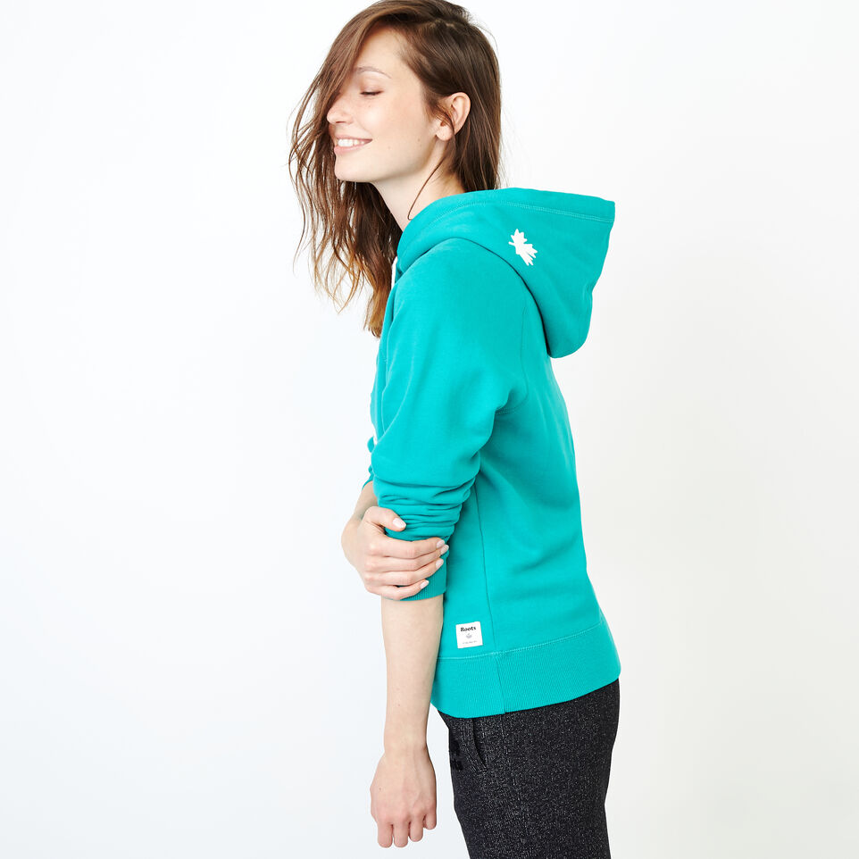 Roots-Women Our Favourite New Arrivals-Original Kanga Hoody-Dynasty Turquoise-C