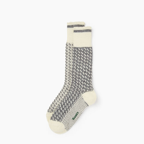 Roots-New For November The Roots Cabin Collection™-Roots Cabin 3 Point Sock 2 Pack-Grey Mix-A