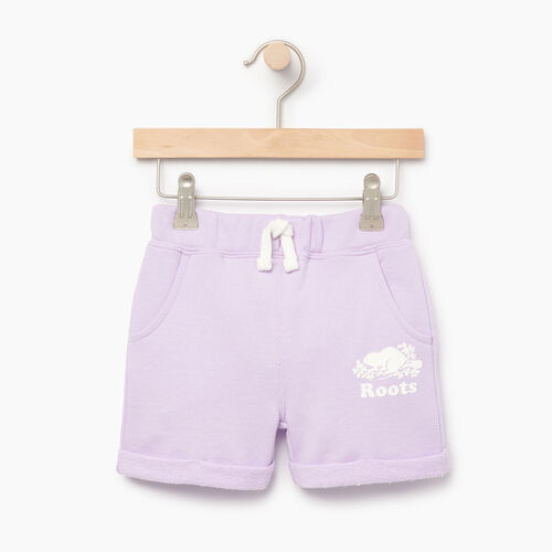 Roots-Clearance Kids-Toddler Roots Beach Short-Lavendula-A