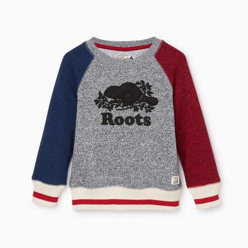 Roots-Kids Toddler Boys-Toddler Roots Cabin Crew Sweatshirt-Active Blue Pepper-A
