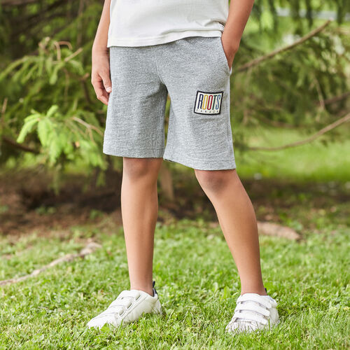 Roots-Kids Bottoms-Boys Camp Patch Short-Salt & Pepper-A