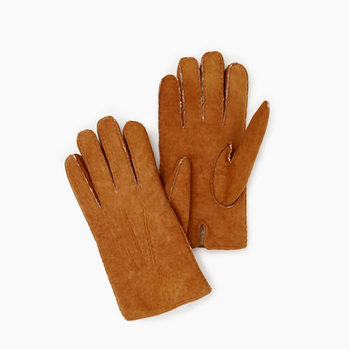 Roots-Leather  Handcrafted By Us Our Favourite New Arrivals-Mens Shearling Glove-Tan-A