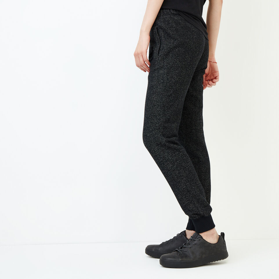 Roots-Women Our Favourite New Arrivals-Slim Cuff Sweatpant - Tall-Black Pepper-C