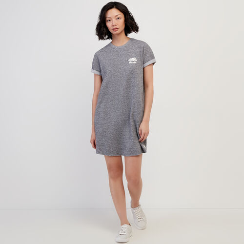 Roots-Sweats Women-Edith Cuffed Dress-Salt & Pepper-A