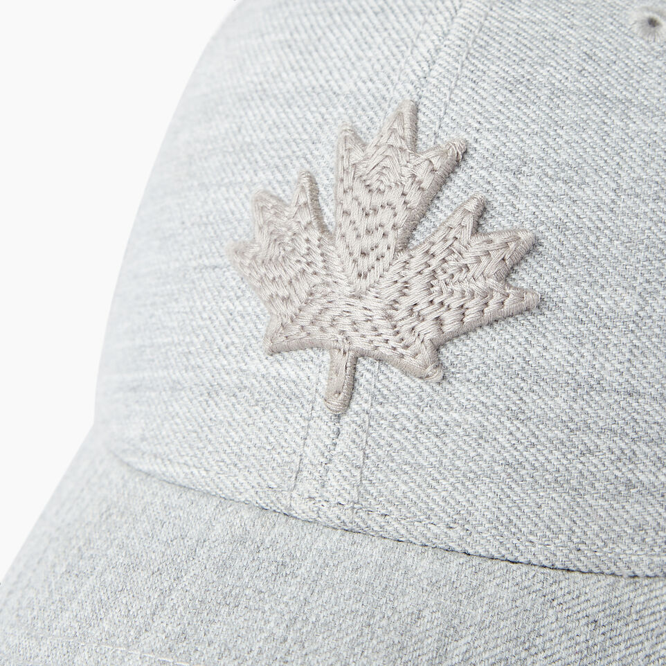 Roots-Men Our Favourite New Arrivals-Modern Leaf Baseball Cap-Grey Mix-D