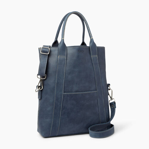 Roots-Women Categories-Annex Tote-Navy-A