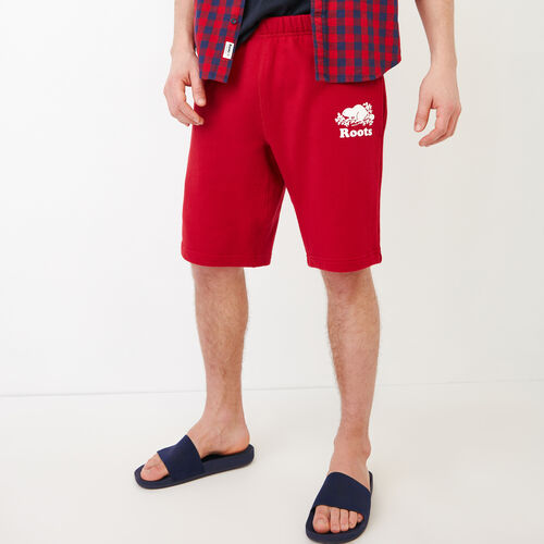 Roots-Men Shorts-Original Sweatshort 10.5 In-Lodge Red-A