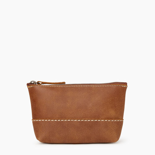 Roots-Women Leather Accessories-Small Robson Pouch-Natural-A