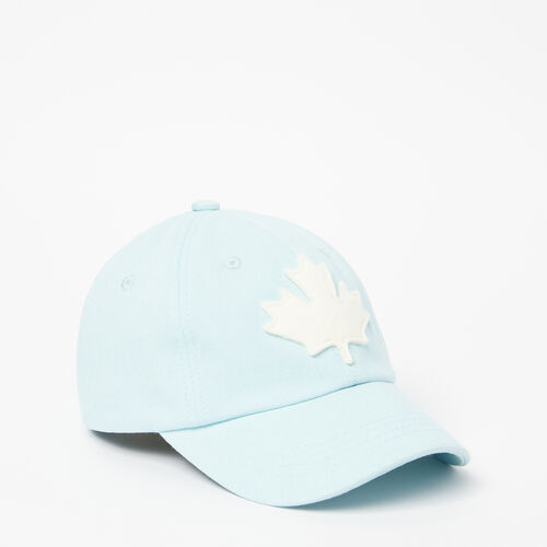 Roots-Kids Accessories-Kids Canada Leaf Baseball Cap-Cordalyis Blue-A