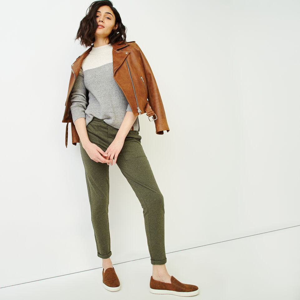 Roots-Women Sweaters & Cardigans-Arbutus Twill Sweater-Salt & Pepper-B