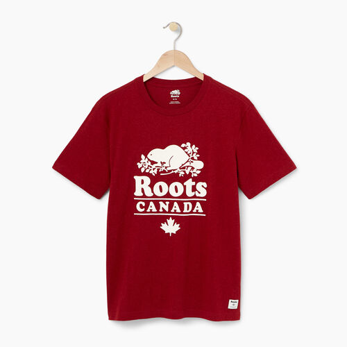 Roots-Winter Sale Men-Mens Roots Cabin T-shirt-Lodge Red Pepper-A