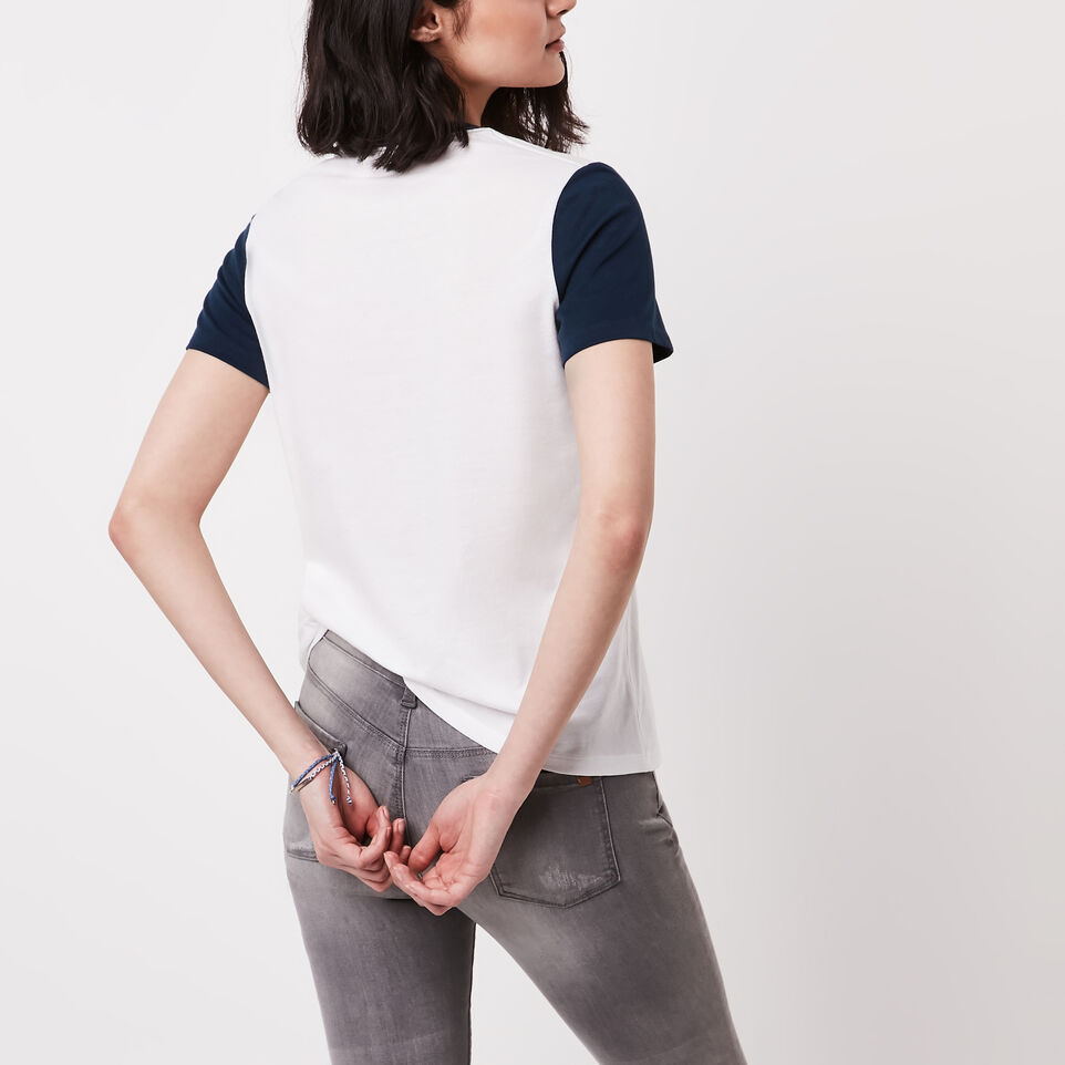 Roots-undefined-Colour Blocked T-shirt-undefined-D