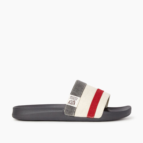 Roots-Footwear Categories-Womens Long Point Cabin Slide-Grey-A